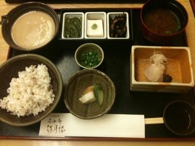 静岡駅の「府中庵 待月桜」の麦とろ定食