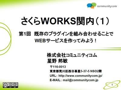 WordPress中級講座「第1回 既存のプラグインを組み合わせることでWEBサービスを作ってみよう!」