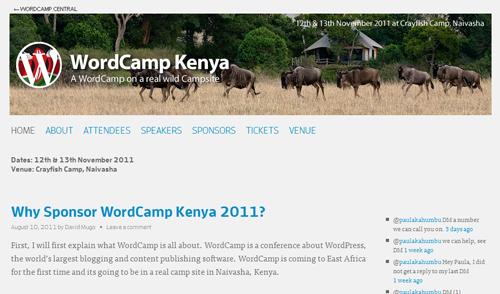 WordCamp Kenya 2011のサイト