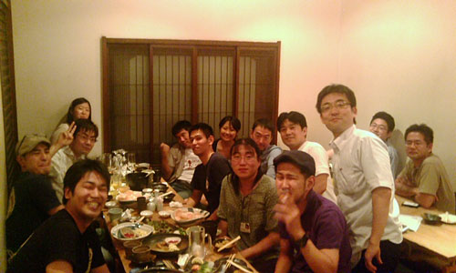 直子さん一時帰国の歓迎会 in赤羽 2009年8月23日