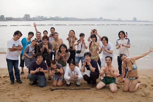 WordBeach 名古屋 翌日のビーチにて