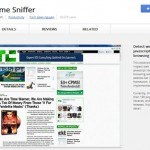 chrome web storeの「Chrome Sniffer」